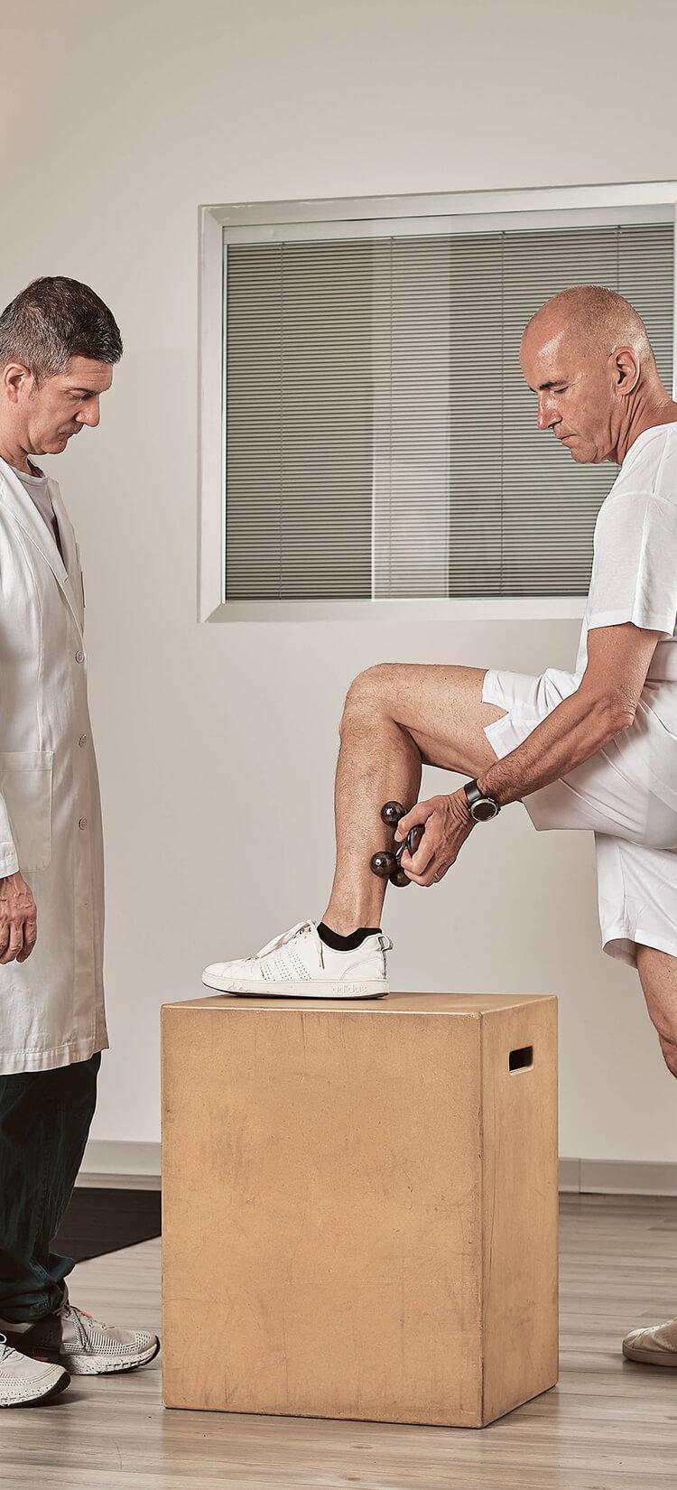 Dermasphere utilizzato sulle gambe
